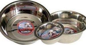 Loving Pets Striped Stainless Steel Dish 1 Pt.
