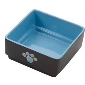 Ethical Four Square Dog Dish Blue 5