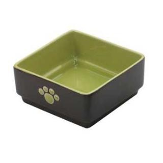 Ethical Four Square Dog Dish Green 5