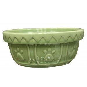 Ethical Old World Antique Dog Dish Sage Green 5
