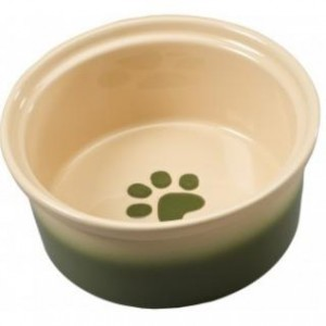 Ethical 2Tone Sahara Dog Dish Tapioca/Green 7